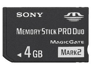 Sony 4 GB Memory Stick PRO DUO Mark 2 Media Card - (Bulkverpackung) High Speed (Memory Stick Duo-medien)