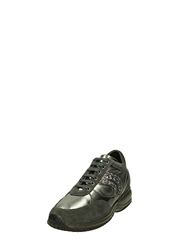 Geox D Happy A, Baskets Basses Femme Gris