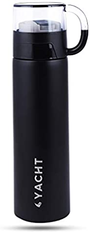 Yacht Vacuum Insulated Hot & Cold Double-Wall Thermosteel Bottle, Bliss, Black, 500 ml F
