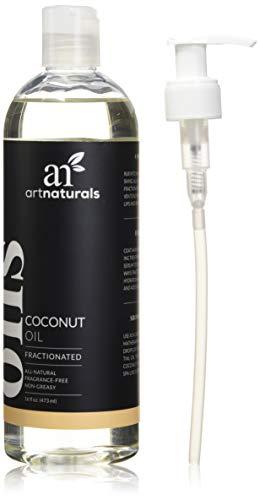 ArtNaturals Reines Flüssiges Fraktioniertes Kokosöl - (16 Fl Oz / 473ml) - Coconut Oil - Massage- und Trägeröl - Geruchlos