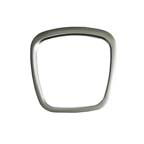 medocflore beauty Airbag ABS Silver Sticker Volante Centro Logo Distintivo Copertina Trim Telaio Sostituzione Accessori per A4 B8 B6 S4 A5 A6 C6 Q5 Q7 (Argento Matt Trim)