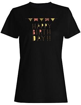 Nuevo Feliz Cumpleaños Hombre camiseta de las mujeres m522f