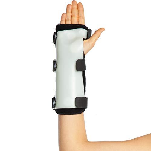 TPU Handgelenkorthese - Handgelenk Schiene - Hand Stabilisator Unterstützung - Postoperativer Ruhigstellung - Medical Stabilisator ((M (20-24 cm), links) -