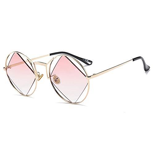 Thirteen Sonnenbrille Damen, Fashion Round Frame Square Lens, UV400 Geeignet Für Dekoration, Sonnenschutz, Reisen Im Freien, Shopping, Reisen, Fahren (Color : D)