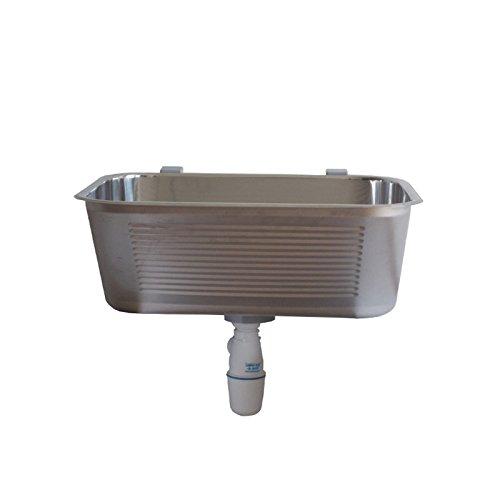 Stabilo-Sanitaer Edelstahl Ausgussbecken 63 x 53 x 25 cm 55l Waschbecken Spülbecken Waschtrog für Keller oder Garten