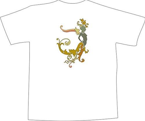 T-Shirt F1092 Schönes T-Shirt mit farbigem Brustaufdruck - Fee Wache Schwarz