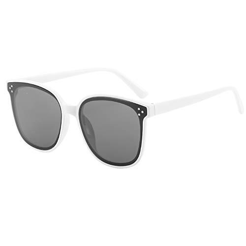 YA-Uzeun Sonnenbrille, Sportbrille für Herren und Damen, leicht, übergroß, modisch, verspiegelt, polarisiert