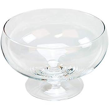 13cm D 29cm rund transparent Hakbijl Glasschale auf Fuß CYLINDER H