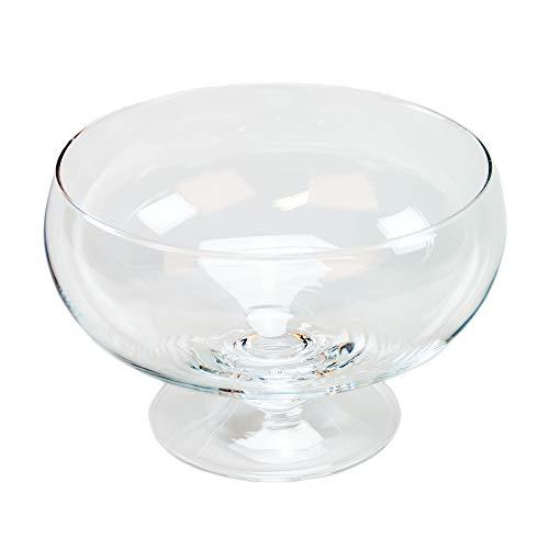Runde Glas-Schale Roxy 75 Höhe 11cm ø 17cm. Flache Glasschale auf Fuß als Deko-Schale von Glaskönig