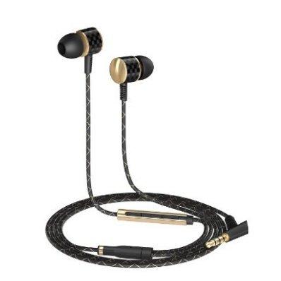 AUKEY Auriculares Teléfono Móvil Estéreo In ear con Cable 1.2m y Micrófono  Cáscara Dorado Alambre de Cobre Conector de Audio de 3 5 mm Compatible con Android  iPhone  iPad  Tabletas  etc. ( EP   C6 )