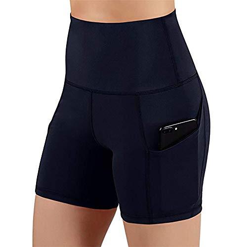 MKLVWU Sexy Shorts 2019 Sommer Klassische Sport-Shorts weibliche Stretch Slim Yoga-Shorts mit hoher Taille Hüfte Engen Shorts Schwarz XL -