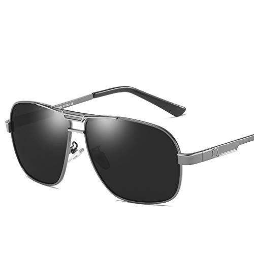 WULE-RYP Polarisierte Sonnenbrille mit UV-Schutz Herrenmode Polarisierte Sonnenbrillen, Klassische Brillen. Superleichtes Rahmen-Fischen, das Golf fährt (Farbe : Gun Silver Frame)