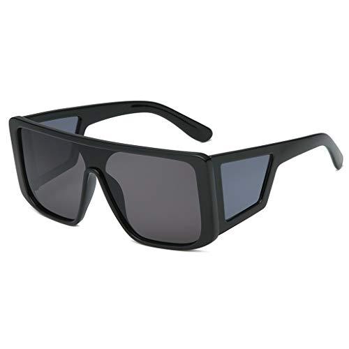 iCerber Sonnenbrille Herren Polarisierte für Männer Jahrgang Retro Sonnenbrille Herren Unisex UV400 Oversize Fahren Gläser Platz Frauen Silber Spiegel