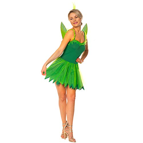 Kostüm Tinkerbell Pixie - Womens Woodland Fairy Tinkerbell Neverland Pixie Hen Night Nymph Fancy Dress