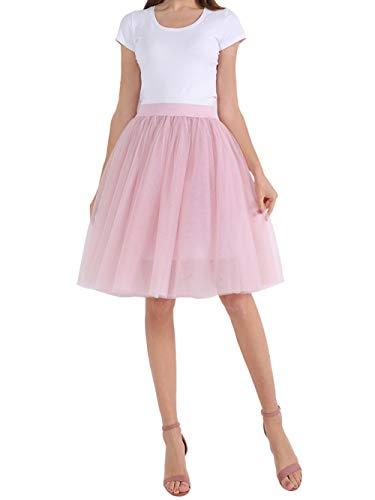 Happy Cherry Damen 1950er Vintage Ballett Blase Tutu Rock 5 Layer Puffy Unterröcke Abschlussball Abend Tanzkleid