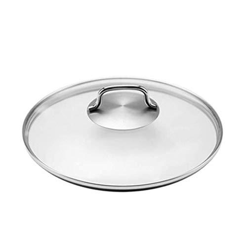 Dxp-shop coperchio in vetro di ricambio for padella con padella ventilata - coperchio universale da cucina in acciaio inossidabile con vetro temperato (size : 20cm)