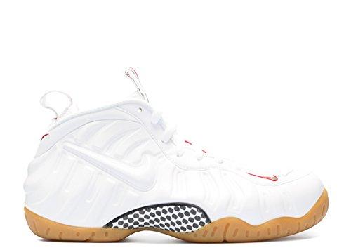 Nike Air Foamposite Pro, Chaussures de Sport-Basketball Homme, 41,5 EU white, white-gym red-grg green