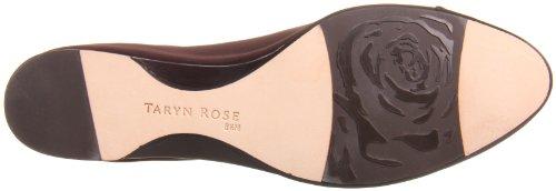 Taryn Rose Felicity Toile Talons Compensés Chocolat
