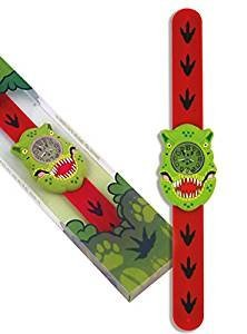 Orologio per bambini T Rex by Wild orologi. Silicone snap-on Wrap Around strap
