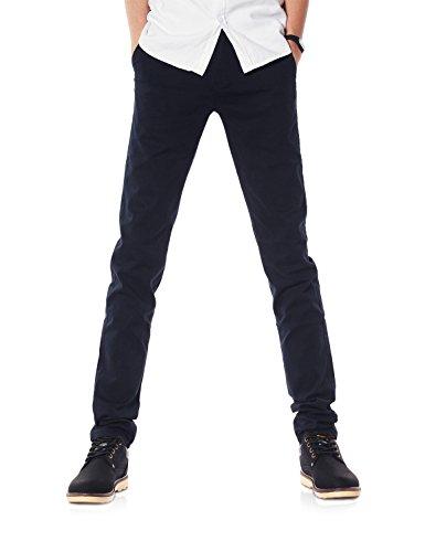 Demon&Hunter 9X Slim-Fit Series de estiramiento pantalones casuales para Hombres X azul oscuro Dh9102 29W / 32L