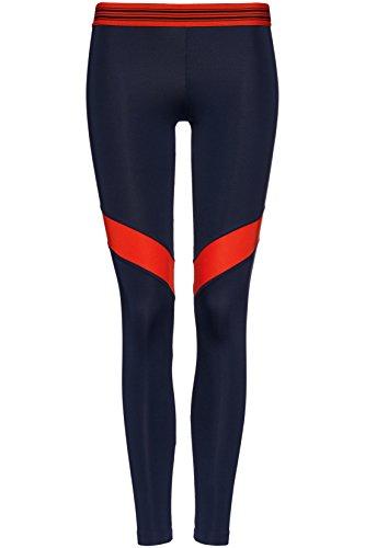 FIND Leggings Sportivi Colour Block Donna Blu (Navy/sport Red)