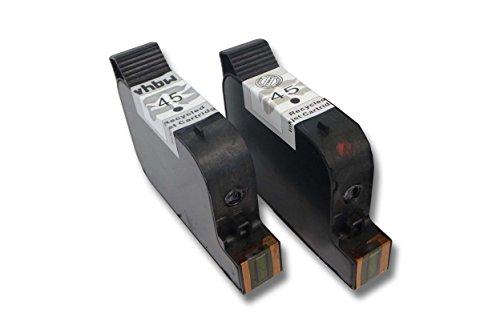 vhbw 2x kompatible Ersatz Tintenpatrone Druckerpatrone Set für Drucker HP PSC 500,...