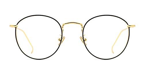 TIJN Damen Metall-Vollrandrahmen Runde Brille