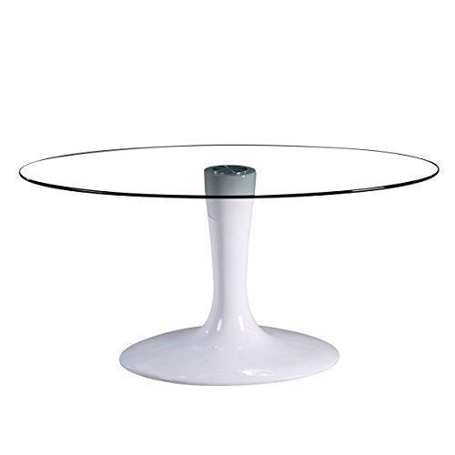 lounge-zone Moderner Konferenztisch Besprechungstisch Design Objektmöbel Messetisch Messemöbel OVILLE Hochglanz weiß Fiberglas Trompetenfuß...