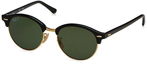 RAYBAN JUNIOR Unisex-Erwachsene Sonnenbrille Clubround Black/Polargreen, 51