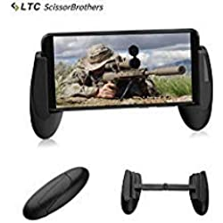 """TLC LTC ScissorBrothers Game Grip H1 para Juegos móviles, Plegable, Anti-resbalante, Sirve para PUBG/Rules of Survival, Compatible con teléfonos Desde 4.5"""" a 6.4"""" - Negro"""