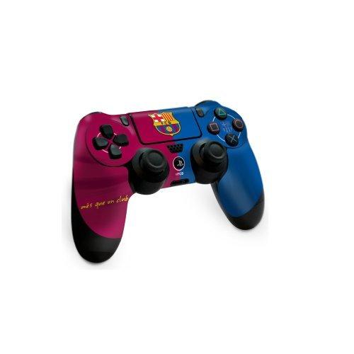 Official Football Merchandise-Rivestimento per controller di console di gioco, compatibile con Sony PlayStation 4(PS4), motivo: squadra di calcio - Barcelona FC Manette PS4