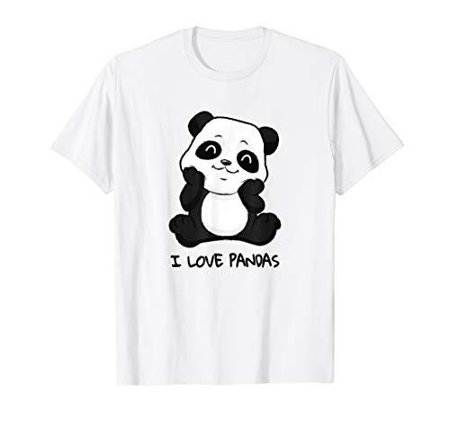 I love Pandas süßer Pandabär T-SHIRT Panda Fan - Süßer Waschbär Kinder Kostüme