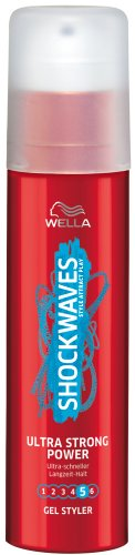 Wella Shockwaves Power Gel Styler Ultra Strong, 3er Pack (3 x 100 ml)