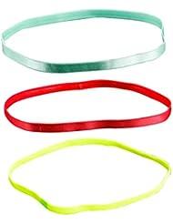 VORCOOL 3 stücke sport haarbänder elastische haarbänder rutschfeste silikon mode modern (farbe randomisierung)