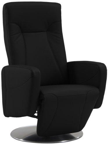 Sino-Living SE-814 Relax- und Ruhesessel in Dickleder, schwarz mit manueller Verstellung