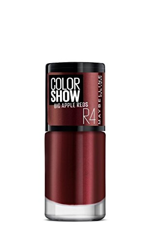 Maybelline New York Color Show Big Apple Nail Paint, Juicy Red, 6ml