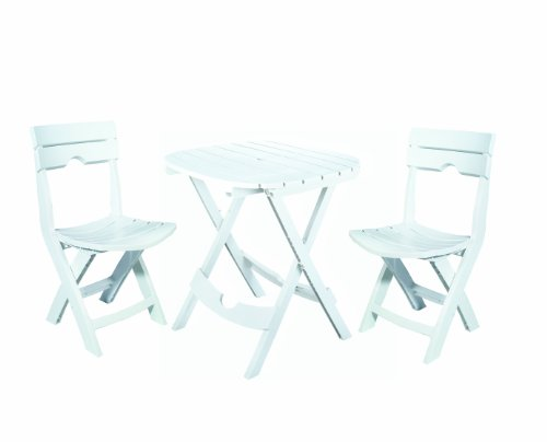 Quik-set (Adams Manufacturing Quik-Fold® Bistro-Set weiß)