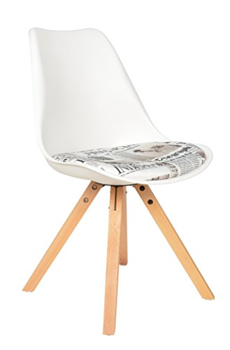 ts-ideen Sedia Poltroncina Lounge Style in Bianco