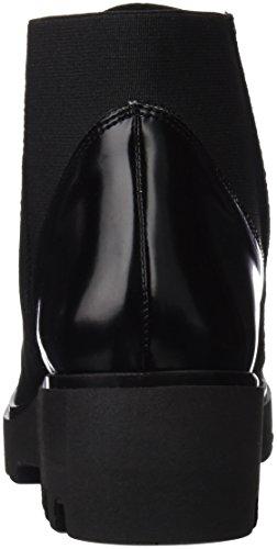 Cuple Botin Cremallera Glaze Negro Serraje Negro, Bottines femme Noir