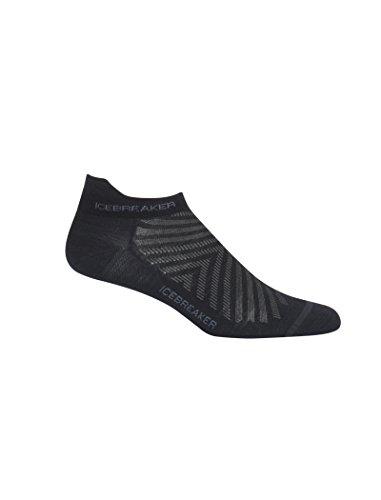 Icebreaker Herren Mens Run+ Ultralight Micro Socken, Schwarz (Black/Monsoon), L