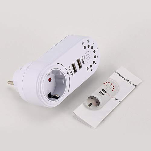 JesseBro76 USB 2.1A 5V Temporizador Interruptor Tomacorriente