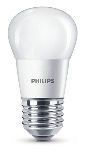 Philips Ampoule LED Sphérique Culot E27, 4W équivalent 25W, Blanc Chaud 2700K, Dépolie