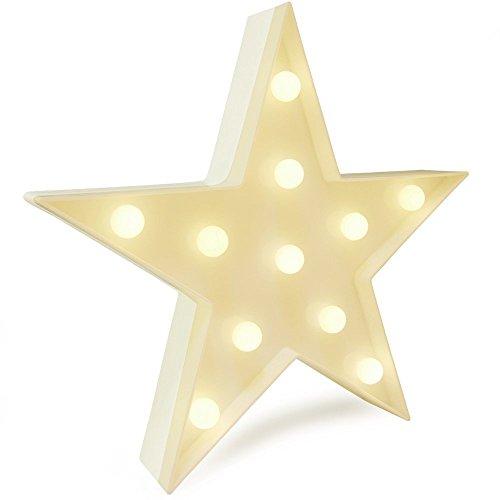 e Sterne Nachtlicht, Lampe für Party Supplies-Wanddekoration für Kinderzimmer, Wohnzimmer, Schlafzimmer (White Star) (Halo Party Supplies)