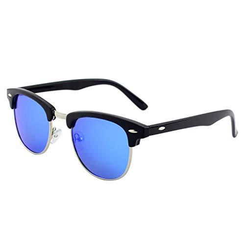 GQUEEN Horn Gestell Halbrahmen Polarisierte Sonnenbrille GQO6 (Frauen Sonnenbrillen Fehler)