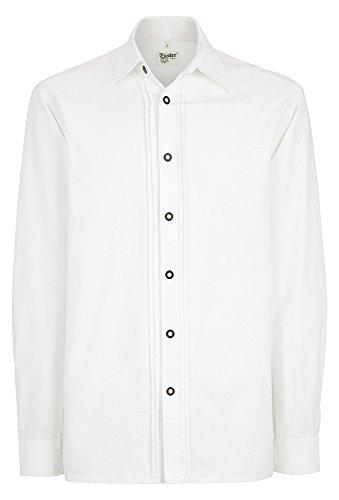 Distler Original Trachten-Hemd Langarm mit Biesen weiß,L