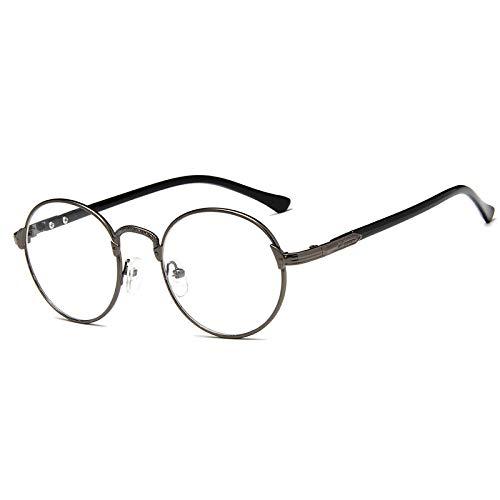 n New Retro Runde Brillengestell No Degree Flache Spiegel Männer Frauen Metall Optische Brillen Computer Brillen Brillengestell 4 ()