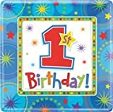 Geschenkidee Geburtstagsdeko - Geburtstag Birthday BOY Pappteller ECKIG DEKO