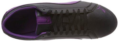Puma Janine Dance Jr 354257 Unisex-Kinder Sneaker Schwarz (black-sparkling grape 07)