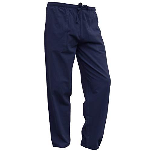 PANASIAM Sommerhose, K', Blue, XL (Leinen-hose Weit Geschnittenem Bein)