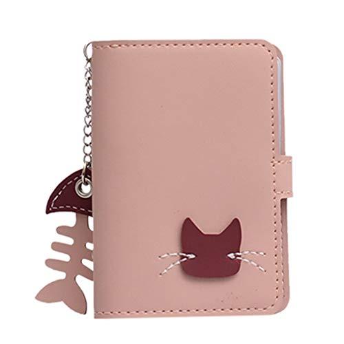 HPADR Kartenpaket Damen Karte Tasche Mode Süße Tier Muster Karte Paket Münze Brieftasche Karte Aufbewahrung Box Clutch Bag rosa - Pink-münzen-geldbeutel-schlüsselanhänger